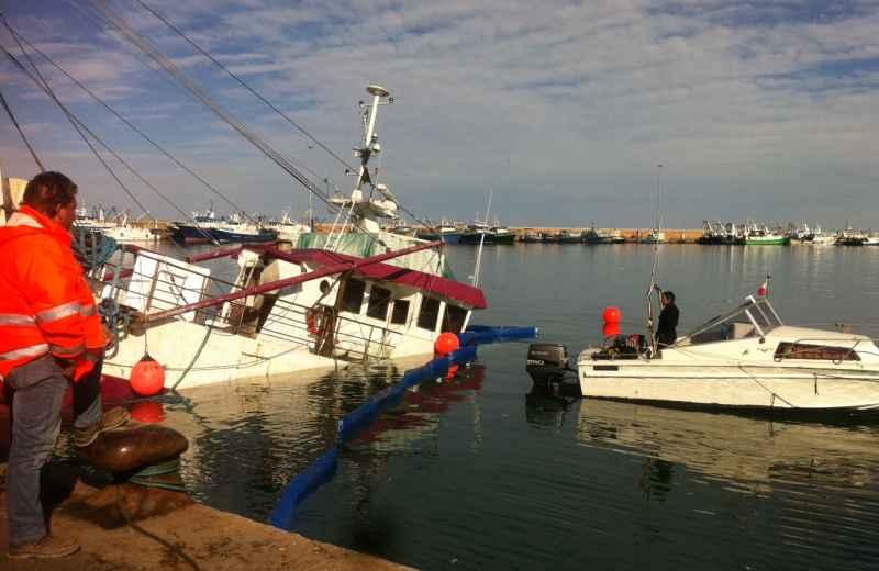 Affondamento peschereccio Eragon (3)