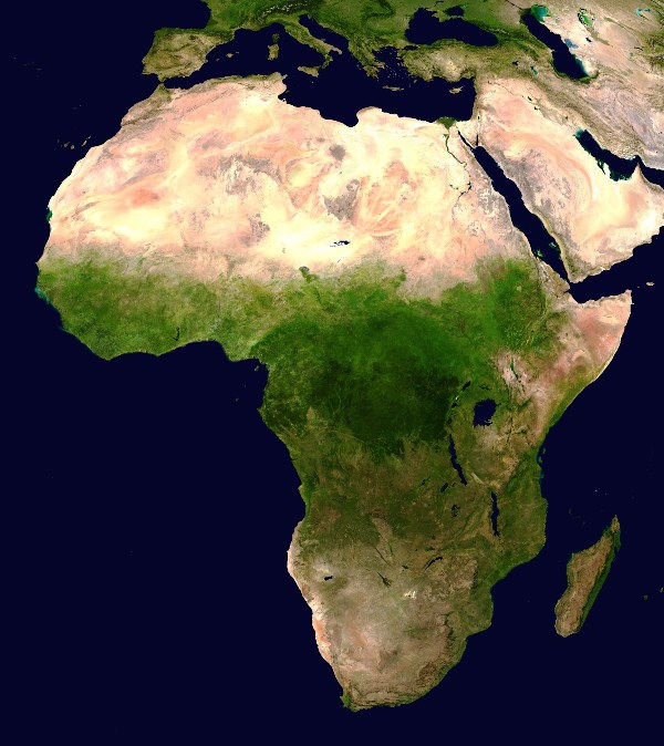 Africa vista satellitare