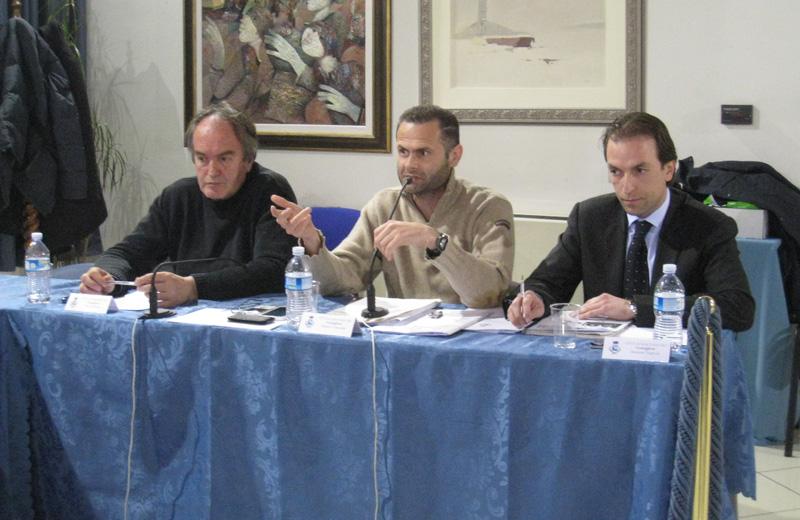 Marcello Monti, Alduino Tommolini e Massimo Vagnoni del gruppo Progetto Comune