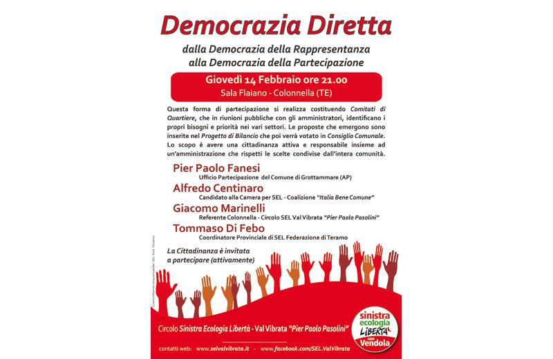 Democrazia diretta, un incontro a Colonnella