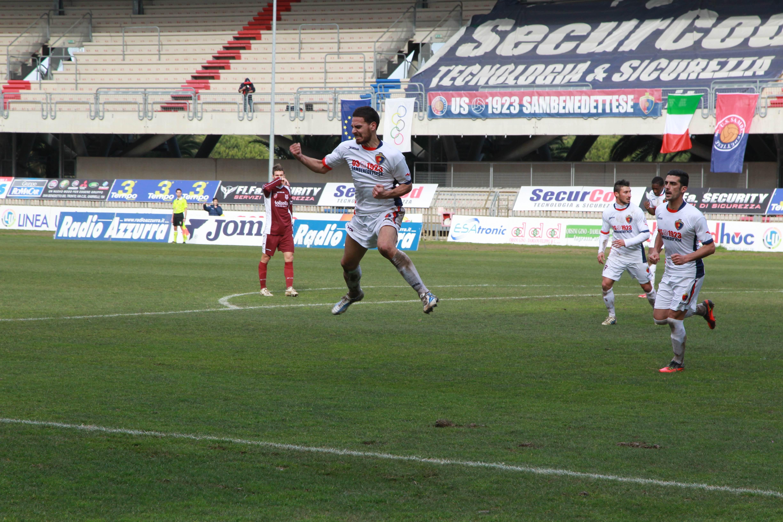 Samb O. Agnonese Traini dopo il primo gol