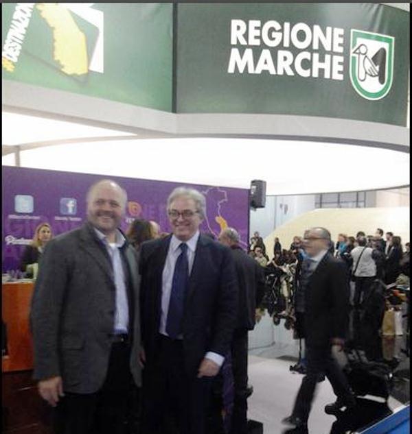 Il sindaco Gaspari con il presidente della Regione Spacca