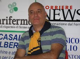 Tiziano Giudici alla presentazione che avvenne a fine settembre da nuovo tecnico della Fermana