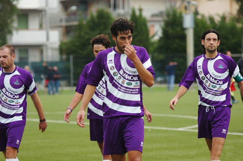Capitan Capecci, autore del gol vittoria