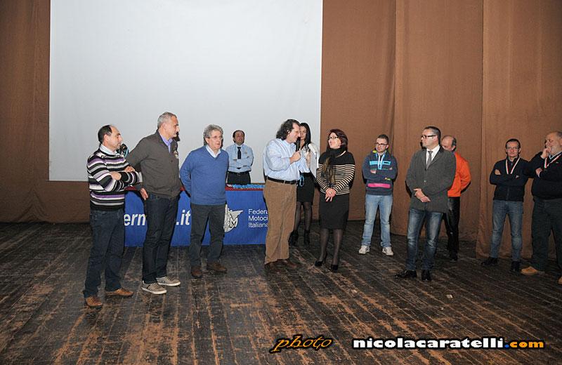 Antonella Di Felice ritira il premio della Federmoto