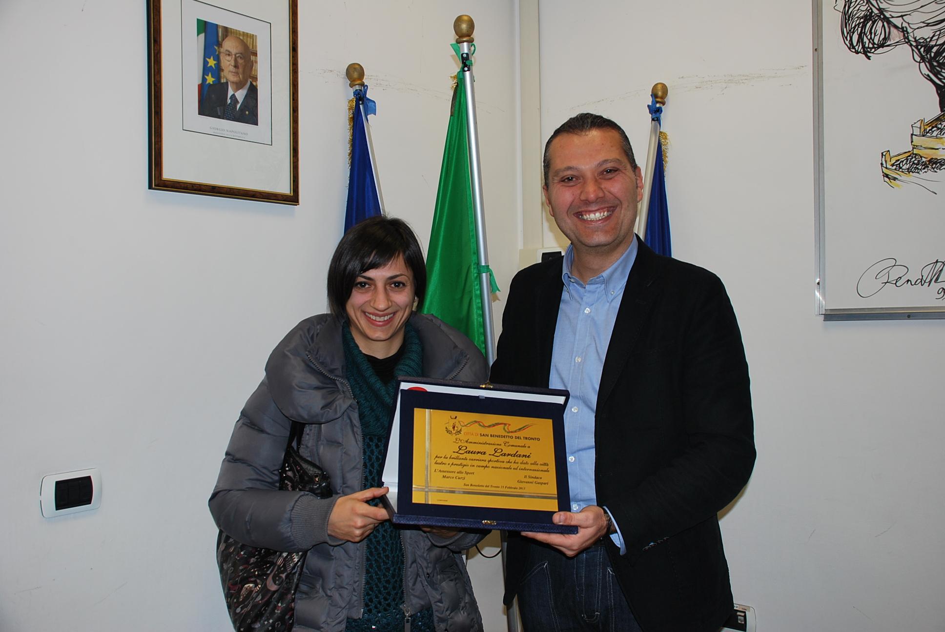 Laura Lardani con Marco Curzi