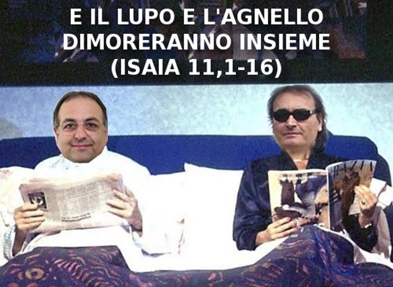 Vignetta di Matteo Bianchini dopo l'incontro tra Peppe Giorgini e Luciano Agostini