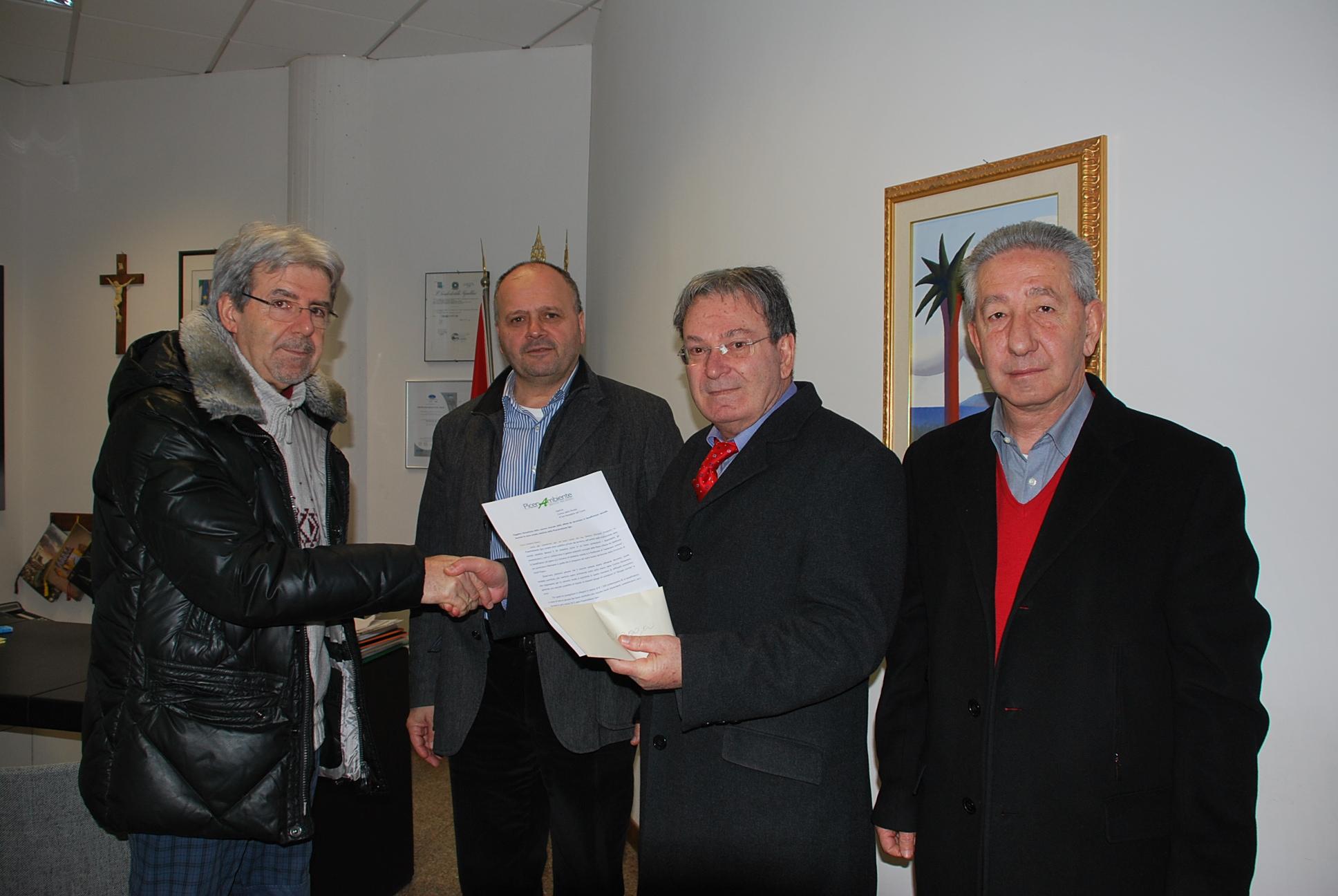 Picenambiente e Caritas insieme al sindaco Gaspari