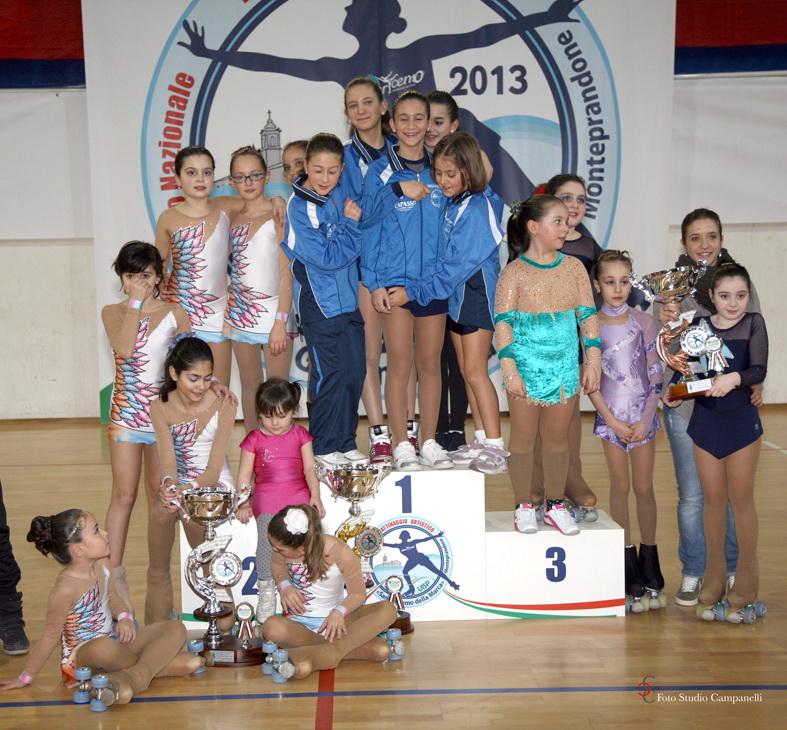Le 3 squadre vincitrici sul podio