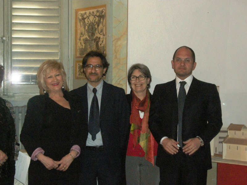 Da sinistra Maria Grazia Orsini, Luciano Bruni, Anna Maria Cerolini