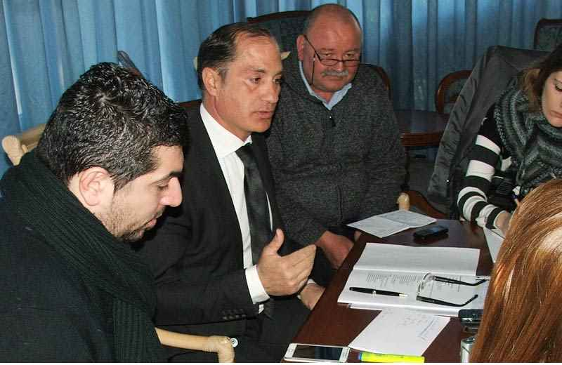 Filippo Olivieri tra Lorenzo Vesperini e Serafino Bruni