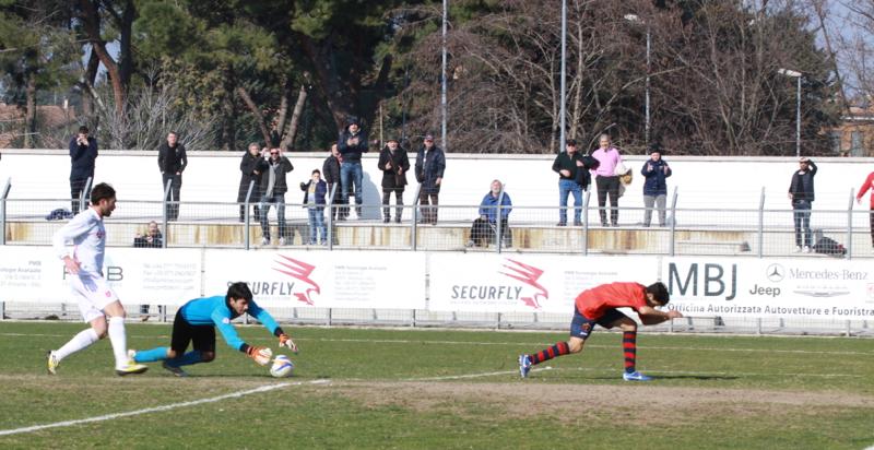 Jesina-Samb (1-2), l'occasione sciupata da Camilli nel primo tempo