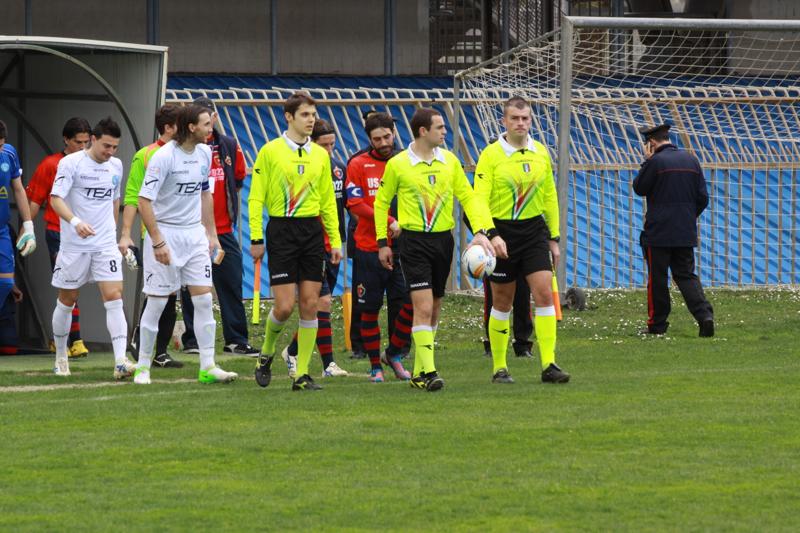 Samb-Celano (3-0), ingresso in campo. Foto Bianchini