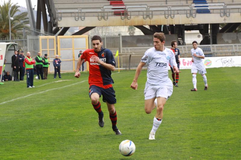 Samb-Celano (3-0), Traini in azione. Foto Bianchini