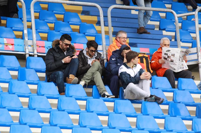 Samb-Celano (3-0), gli indisponibili rossoblu in tribuna. Foto Bianchini