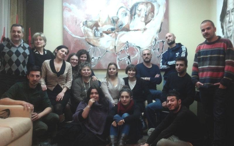 Il gruppo di Eating Piceno, sulla sinistra Luigi Contisciani, Luca Marcelli ed Ermetina Mira