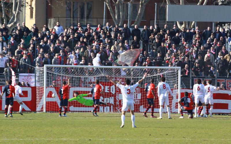 Jesina-Samb 1-2, foto Bianchini, gol di Gabrielloni