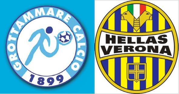 Loghi ufficiali Grottammare Calcio-Hellas Verona
