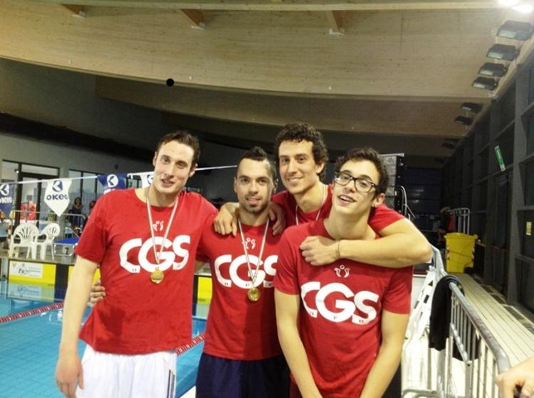 Da sinistra verso destra i medagliati: Maurizio Di Francesco, Danilo Camaiani, Mattia Felicetti, Lorenzo Cartone