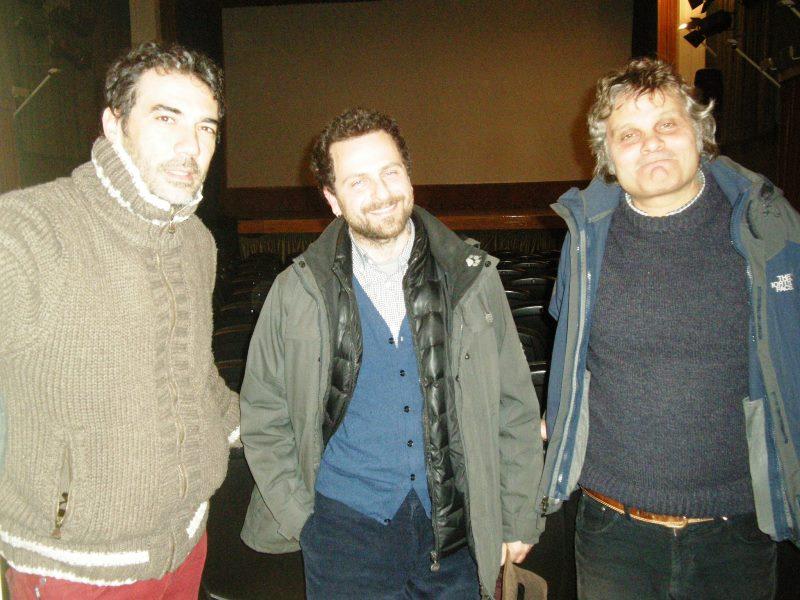 Da sinistra: Daniele Di Bonaventura, Fabrizio Ferraro, Marcello Fagiani