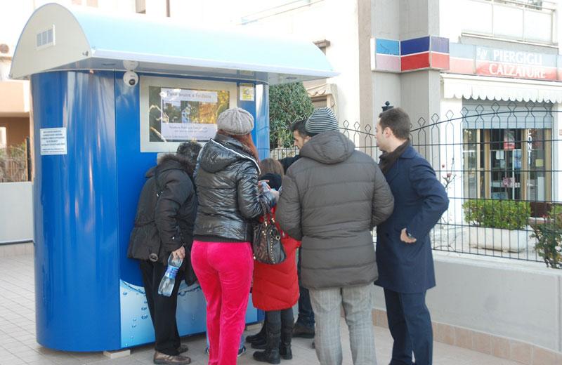 Il distributore di acqua ad Alba Adriatica
