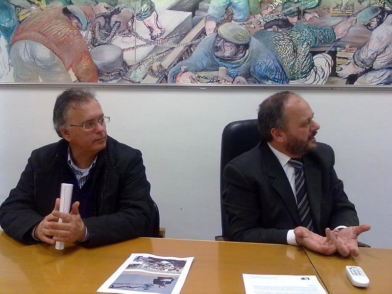 Gregori, segretario comunale del Pd e il sindaco Gaspari