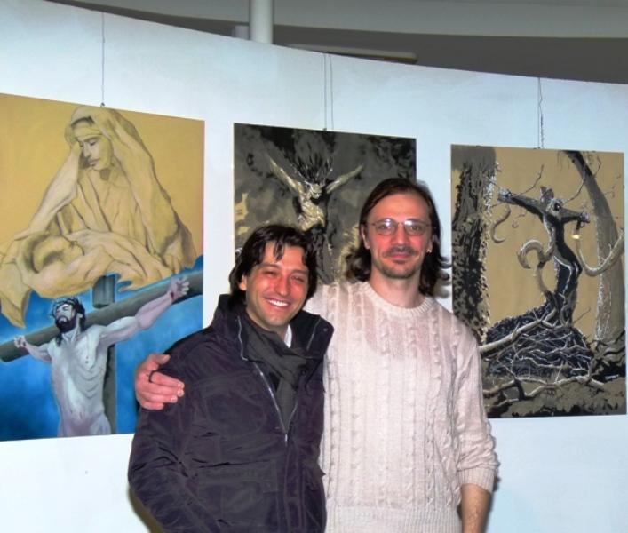 Da sinistra: Enrico Piergallini, EmanueleCalifano Lidak