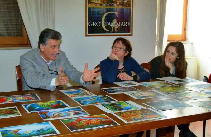 Museo del Tarpato: Luigi Merli con Antonella e Rosamaria Pomili