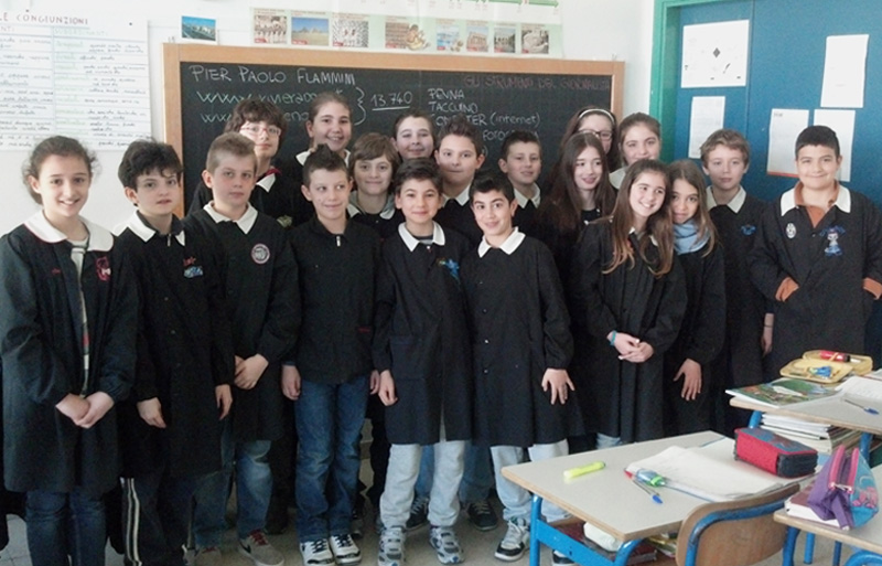 La quinta A della scuola Bice Piacentini