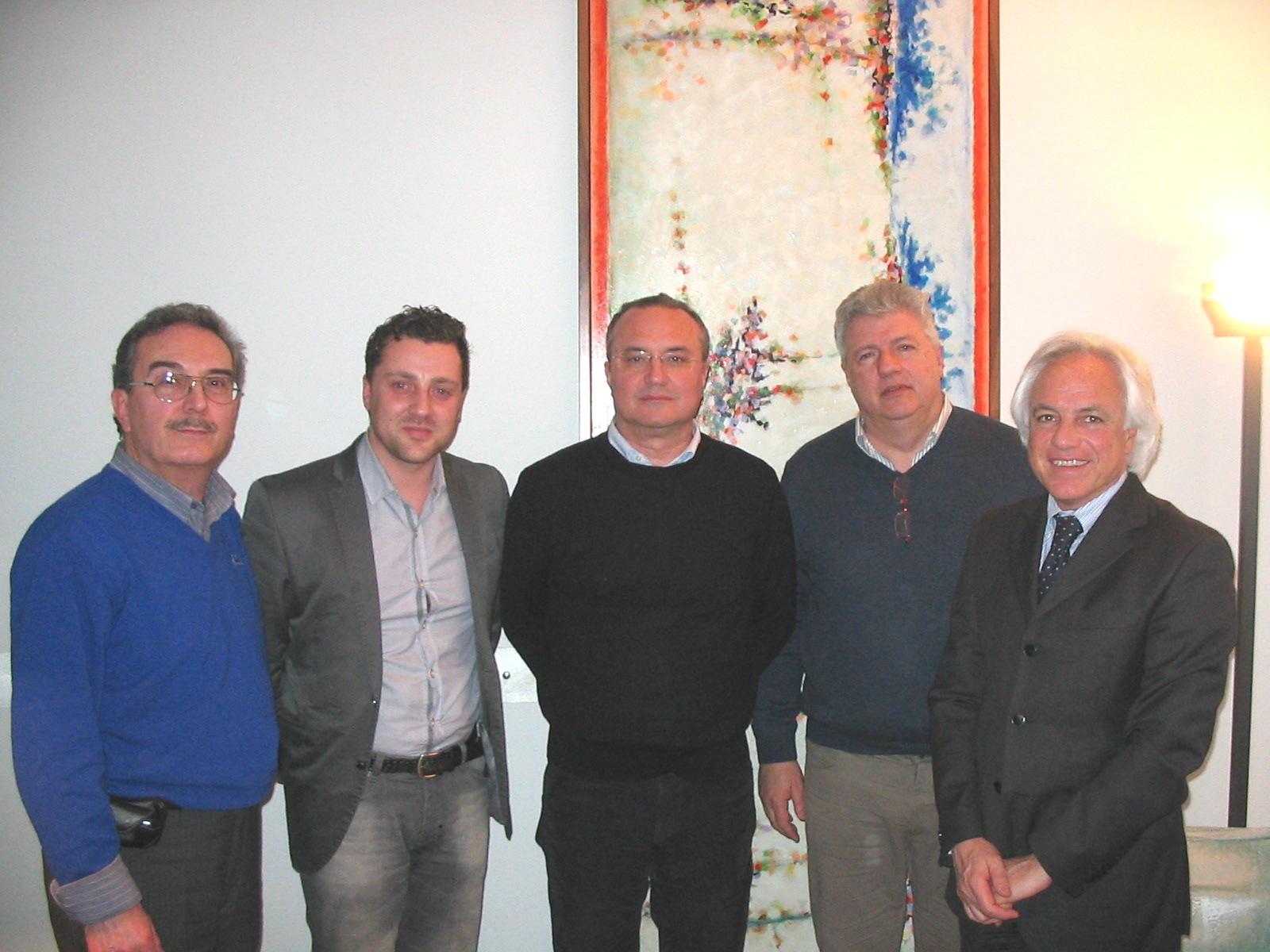 Da sinistra Pompili, Avitabile, Calabresi, Cutini, Fiori