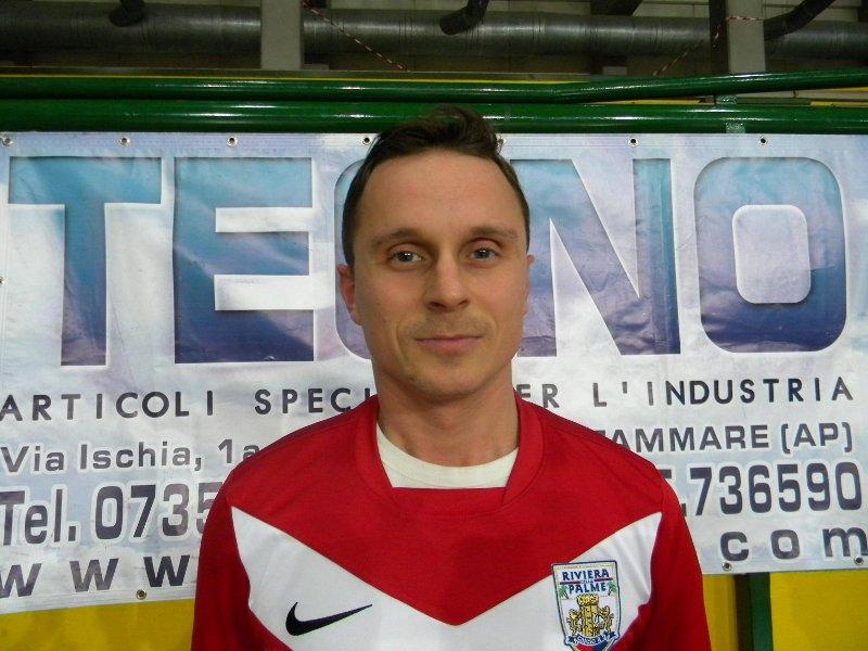 Il laterale Fabio Olivieri, autore del primo gol