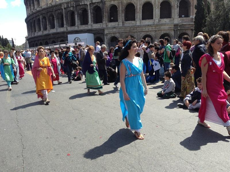I figuranti di Artocria a Roma  (4)