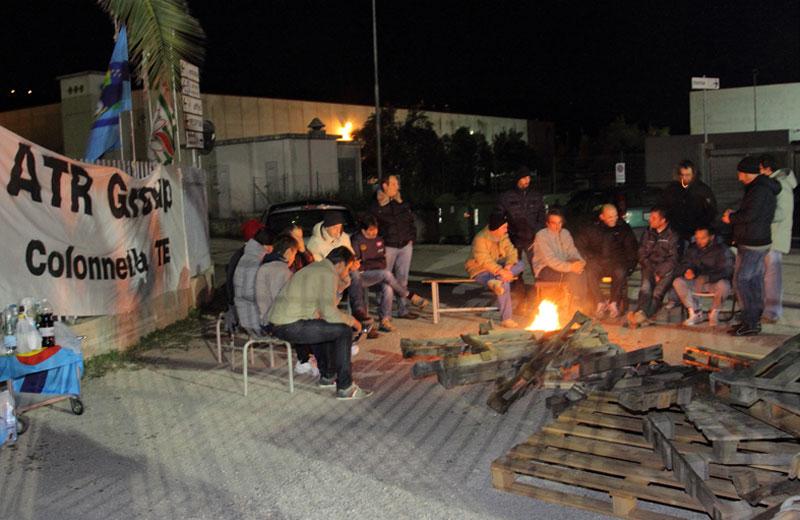 Lavoratori dell'Atr durante lo sciopero dello scorso novembre