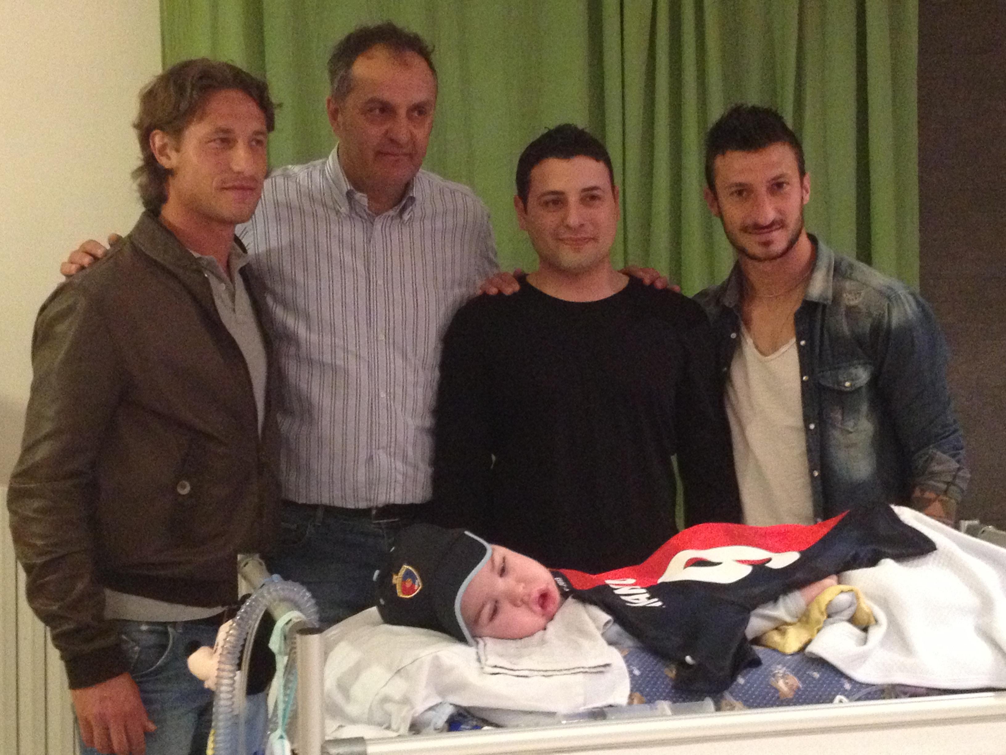 Da sinistra Marini, Tancredi, Mirko Dessì e Santoni