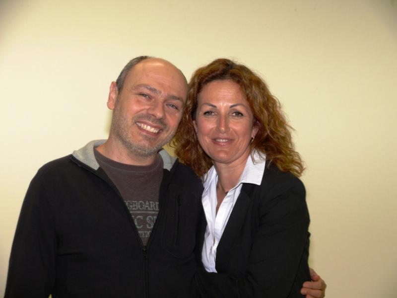 Lucilio Santoni e Antonella Roncarolo