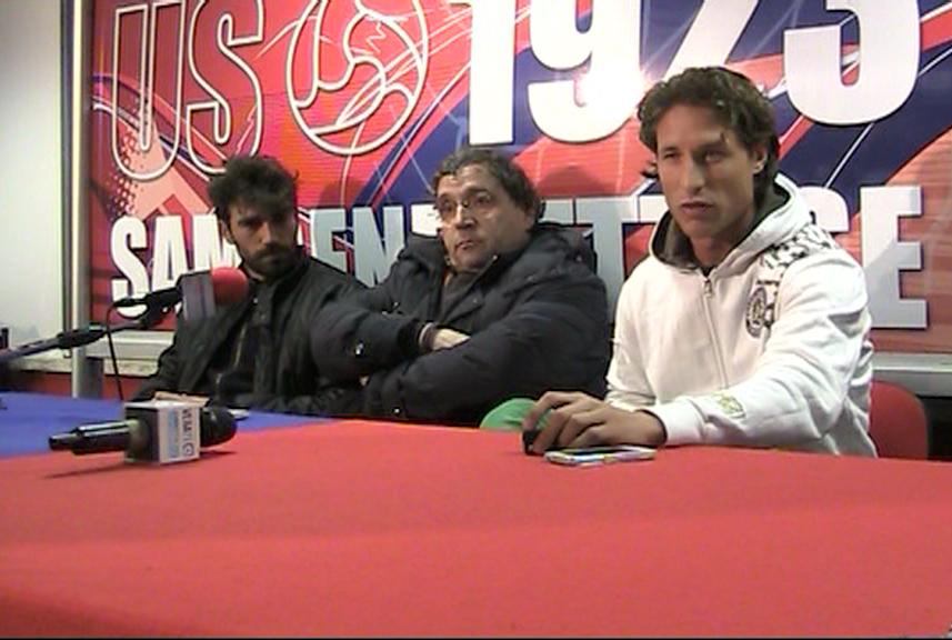 Pazzi, Pignotti e Marini durante la conferenza di martedì pomeriggio 2 aprile 2013