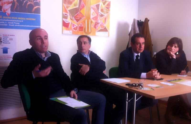 Progetto Smart Piceno. Da sinista Simone Splendiani, Mario Lazzari, Pietro Colonnella e Patrizia Di Luigi