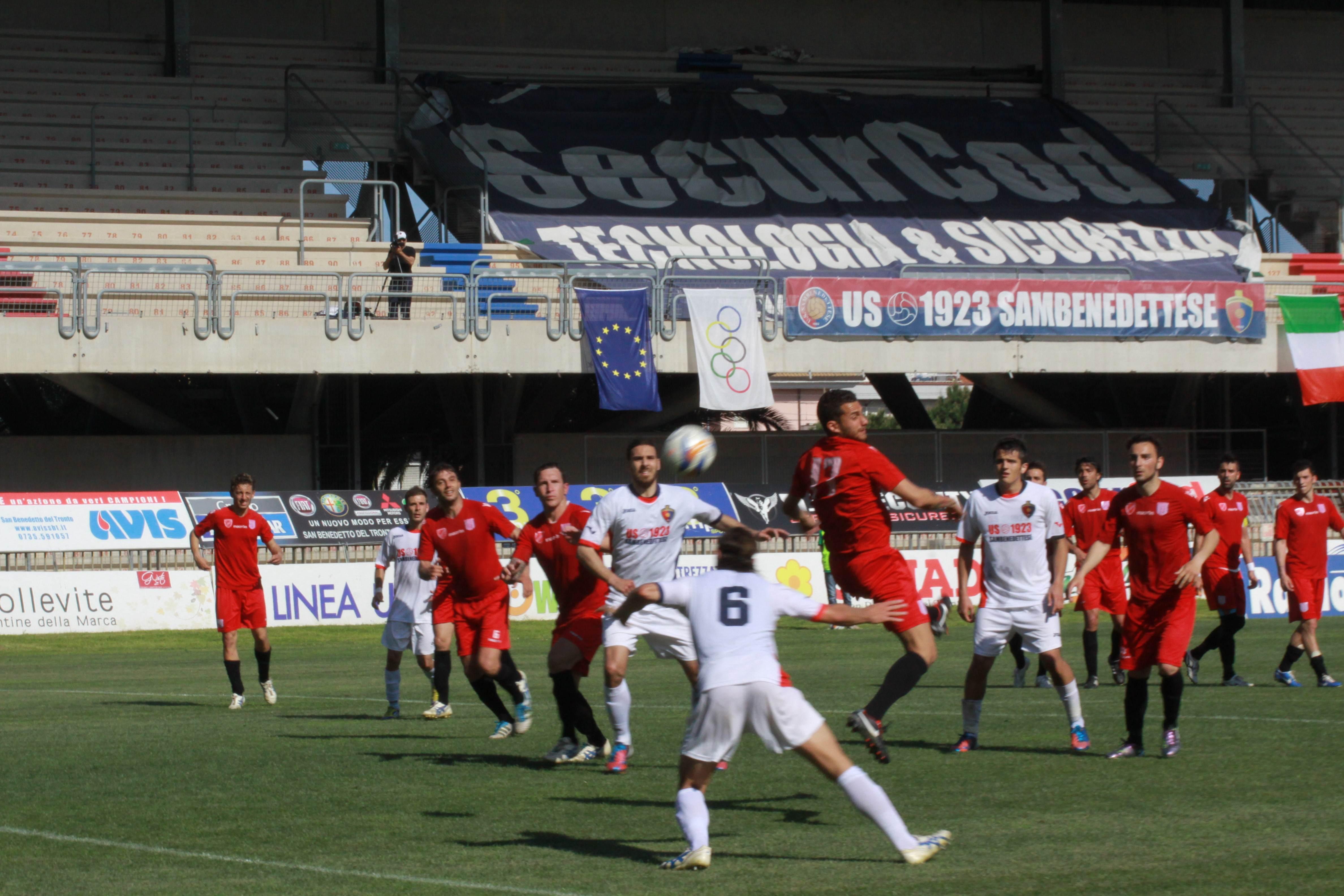 Samb-Isernia Marini di testa gol 3-2 (bianchini)