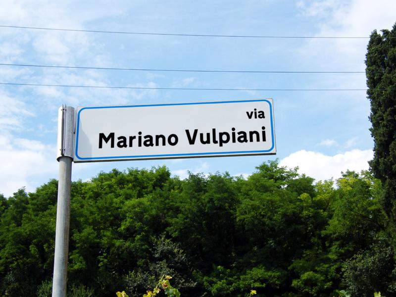Via a Mariano Vulpiani (fotomontaggio)