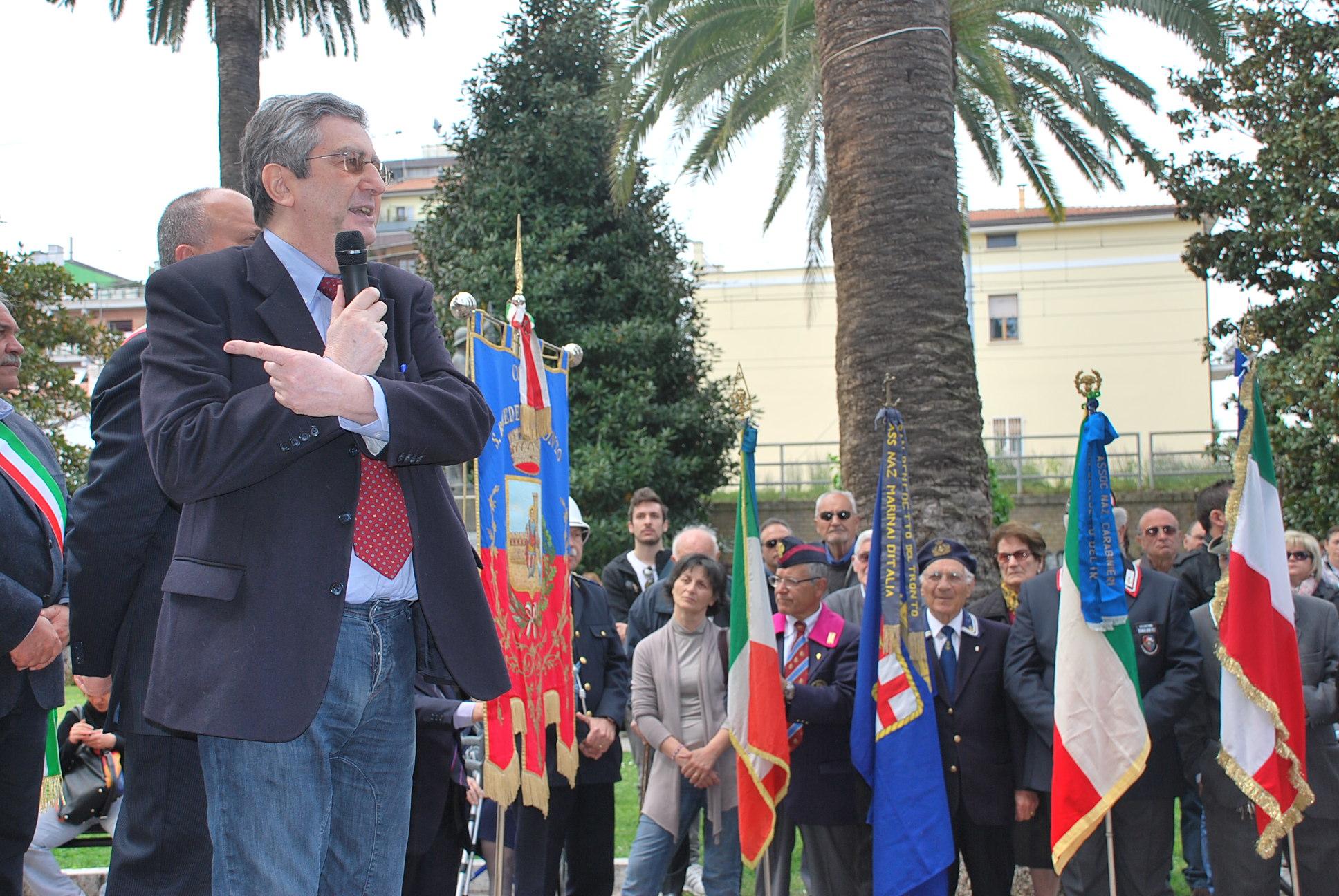 Cerimonia per la Festa di Liberazione