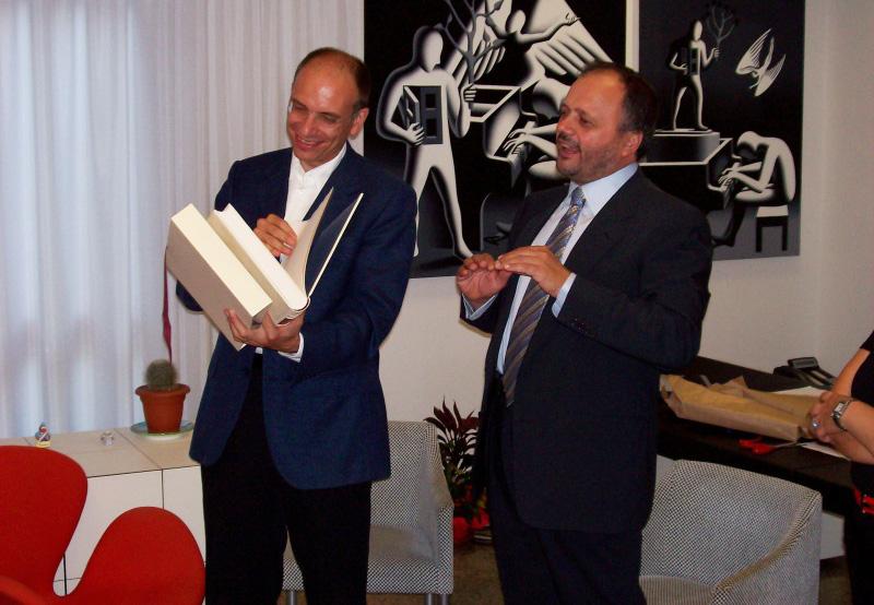 Enrico Letta con Giovanni Gasapri
