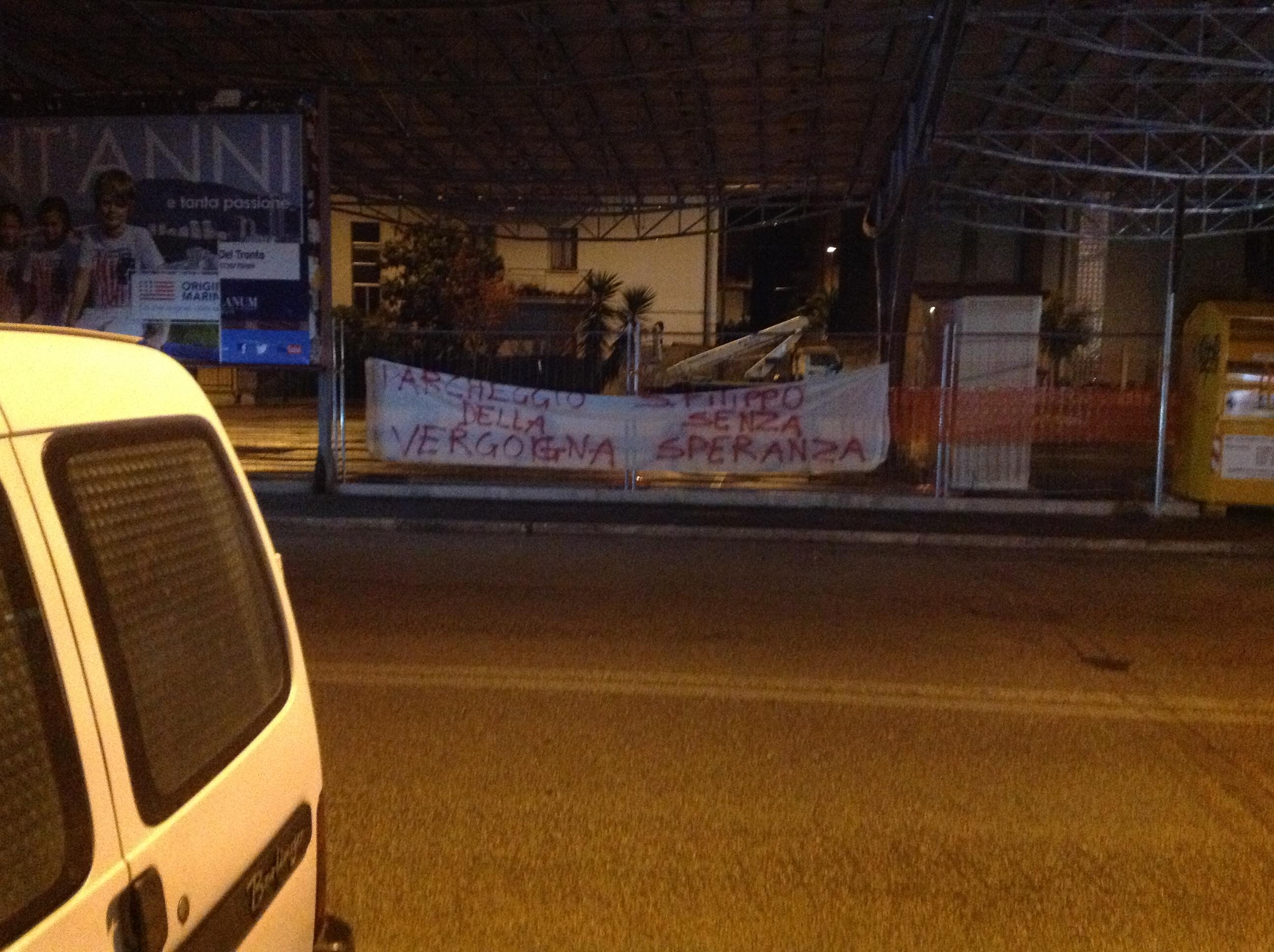 Pensiline. Protesta in zona San Filippo