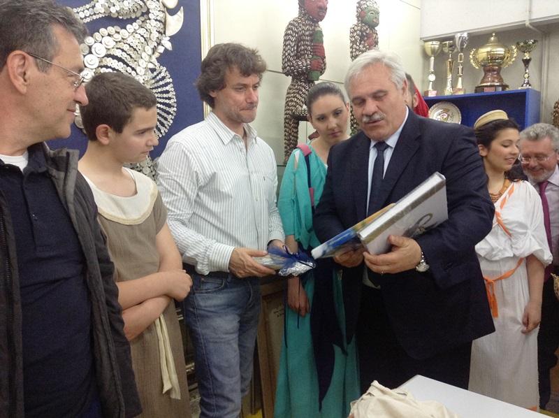 Alberto Angela e il sindaco Domenico D'Annibali