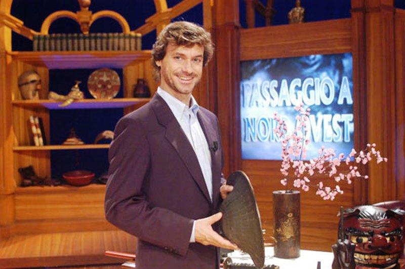 Alberto Angela in una delle sue trasmissione televisive