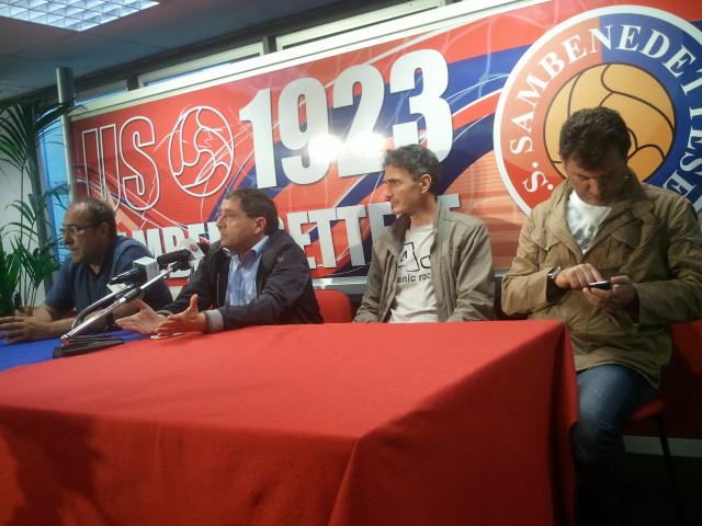 Bartolomei, Pignotti, Cimmino e Spadoni durante la conferenza
