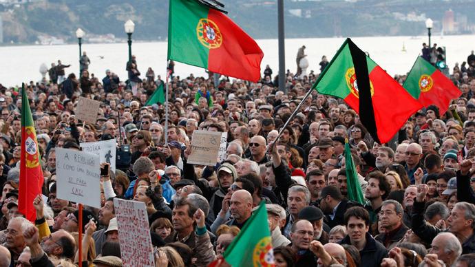 Contro l'Austerità a Lisbona