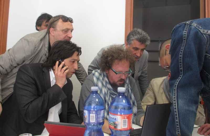 Enrico Piergallini nella sede di Solidarietà e Partecipazione