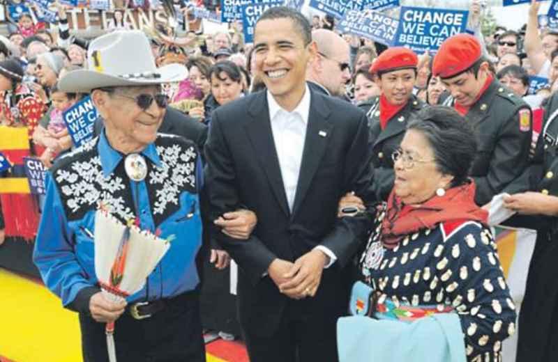 I crow con Barak Obama