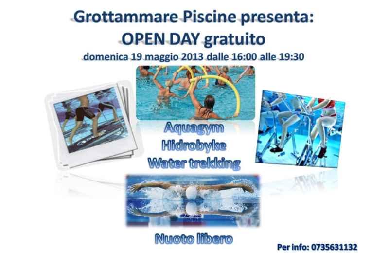 Open day gratuito alla Piscina di Grottammare