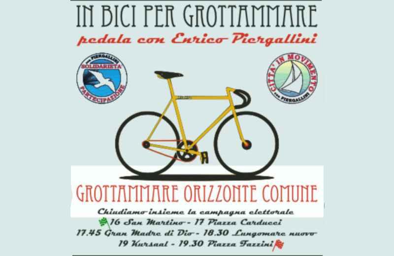 Piergallini e i suoi candidati in bici